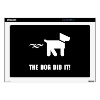 Dog Did It Laptop Decal