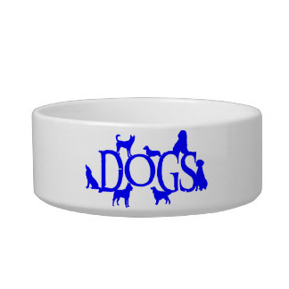 DOG DISH WITH DOGS DESIGN