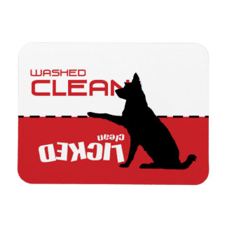Dog Dishwasher Magnet - Licked Clean