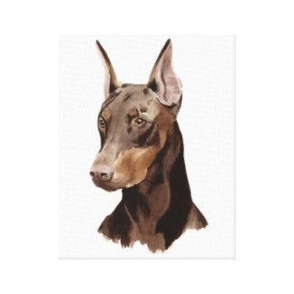 Dog Doberman! Beautifull portrait on canvas! Canvas Print