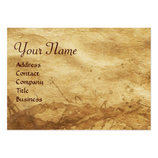 DOG DOCTOR WITH KITTEN Parchment Monogram Large Business Card