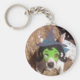 dog dogs Halloween withch fun funny Luna say Key Chains
