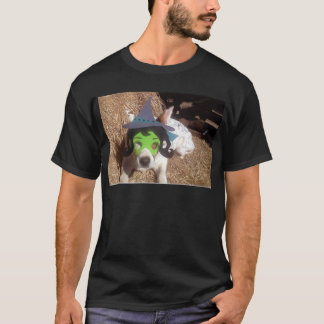 dog, dogs, Halloween, withch, fun, funny, Luna say T-Shirt