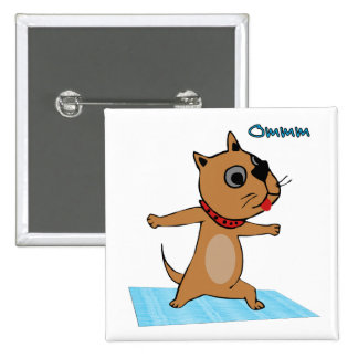 Dog Doing Yoga - Yoga Themed Party Favors 2 Inch Square Button