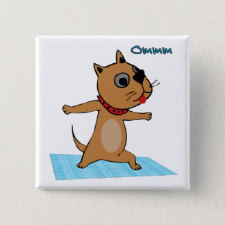 Dog Doing Yoga - Yoga Themed Party Favors Pinback Button