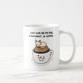 Dog, Doughnut, Coffee Mugs