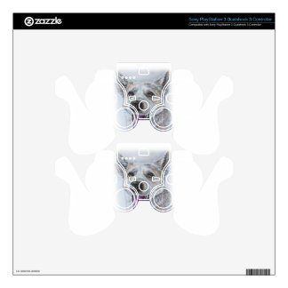 Dog Drawing Design of Sitting Happy Dog PS3 Controller Skin