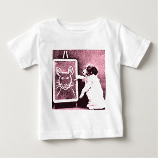 dog drawing what looks to be a mouse baby T-Shirt