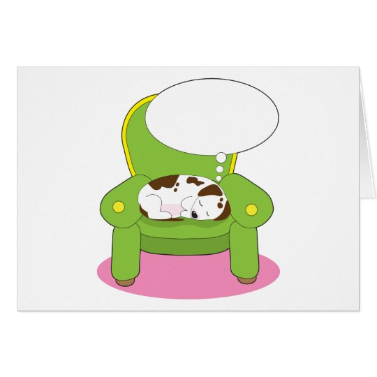 Dog Dreaming Card