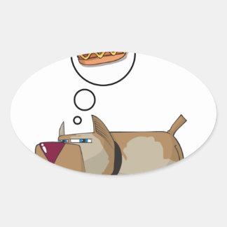 Dog Dreams Oval Sticker