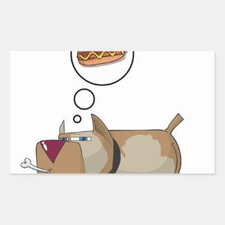 Dog Dreams Rectangular Sticker