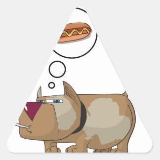 Dog Dreams Triangle Sticker