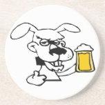 Dog Drinking Beer Beverage Coasters