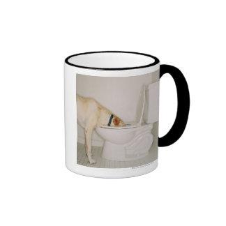 Dog Drinking out of Toilet Ringer Mug