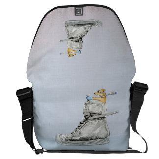 Dog Driving Shoe Large Messenger Bag