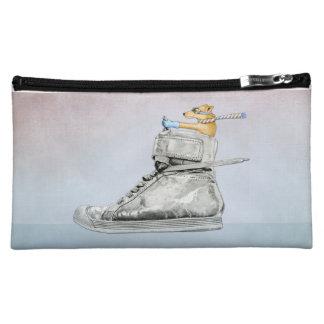 Dog Driving Shoe Medium Cosmetic Bag
