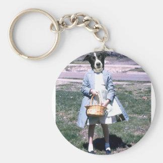 Dog Easter Keychain