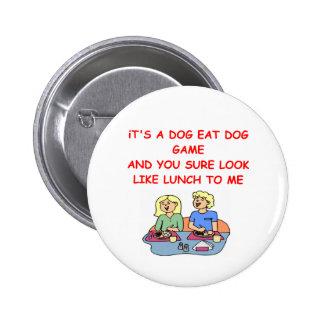 dog eat dog 2 inch round button