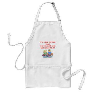 dog eat dog adult apron