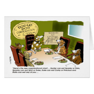 Dog Eat Dog Co. boss's day card