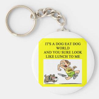 dog eat dog world key chain