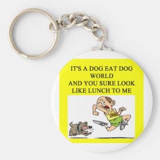 dog eat dog world keychain