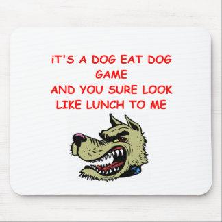 dog eat dog world mouse pad
