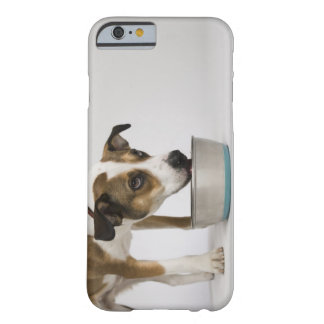 Dog eating from bowl barely there iPhone 6 case