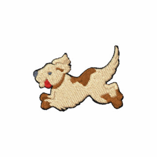 Dog embroidered design