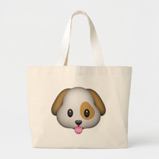 Dog - Emoji Large Tote Bag