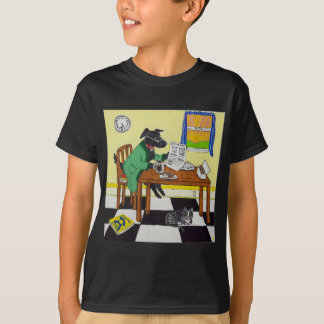 Dog Enjoying Coffee and Donuts T-Shirt