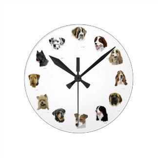 Dog face clock