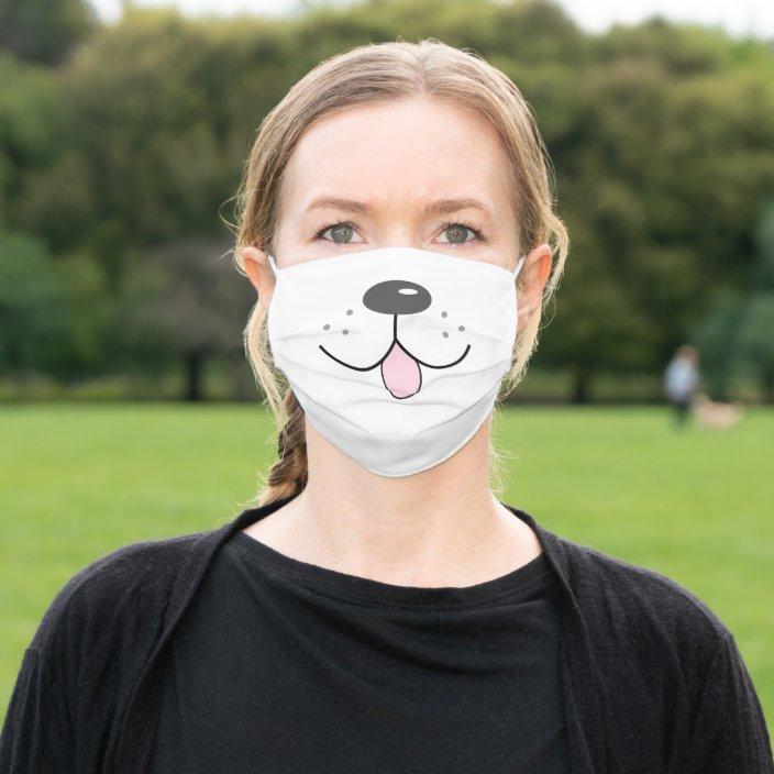 Dog Face Fun Funny Cute Cartoon Cloth Face Mask Zazzle Com