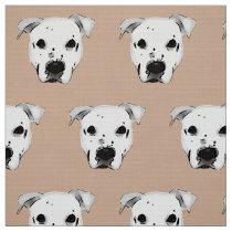 Dog Face Pattern Fabric
