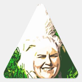 Dog Face Triangle Sticker