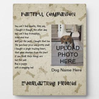 Dog - Faithful Companion Plaque - Personalize