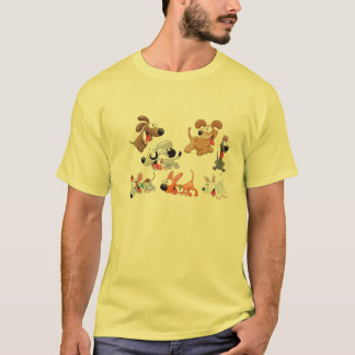 Dog family printed on T-Shirts
