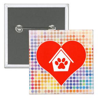 Dog Fan 2 Inch Square Button