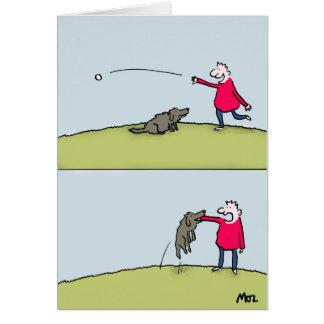 Dog Fetch Greeting Card