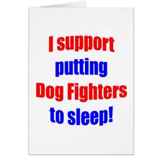 Dog Fighters Put To Sleep Greeting Card
