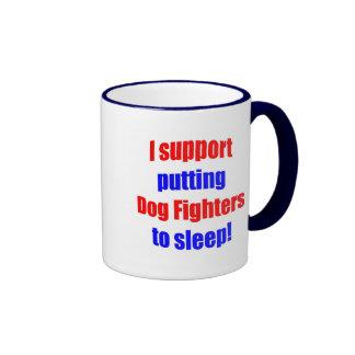Dog Fighters Put To Sleep Ringer Coffee Mug