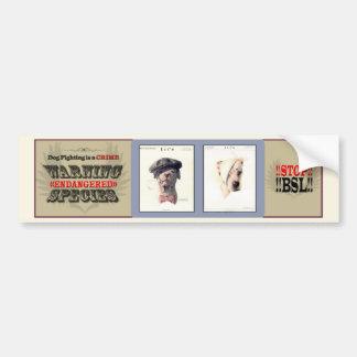 Dog Fighting is a Crime (v3) Bumper Sticker
