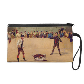 Dog Fighting (oil on paper) Wristlet