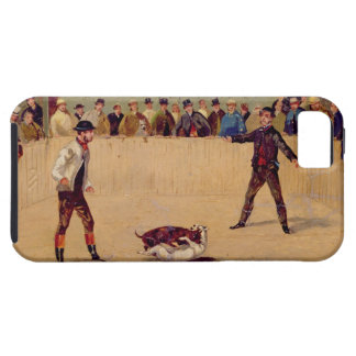 Dog Fighting (oil on paper) iPhone 5 Covers