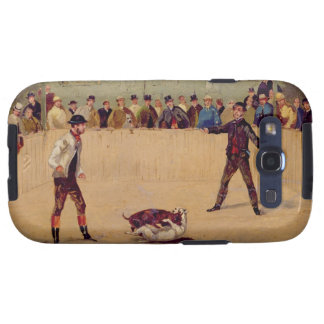 Dog Fighting (oil on paper) Samsung Galaxy S3 Case