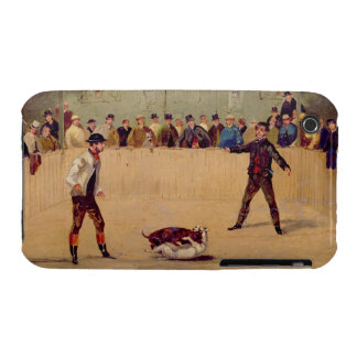 Dog Fighting (oil on paper) Case-Mate iPhone 3 Case