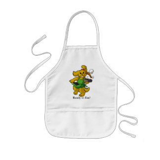 dog flipping pancakes childs apron