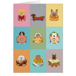 Dog Food Birthday Card
