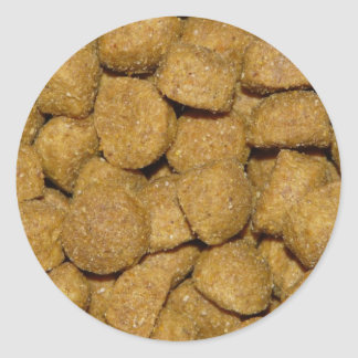 Dog Food! Crunchy Dry Pet Kibble Classic Round Sticker