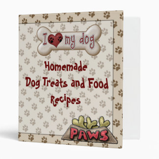 Dog Food Treat Recipe Book Binder Cookbook